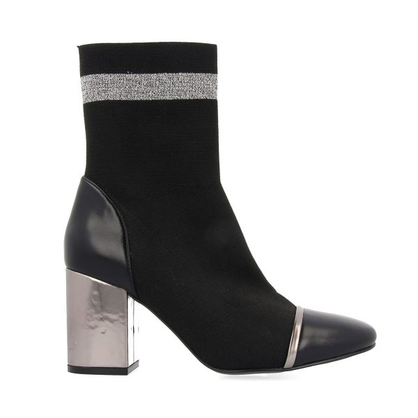 46423 Black-Silver BOOTS 1