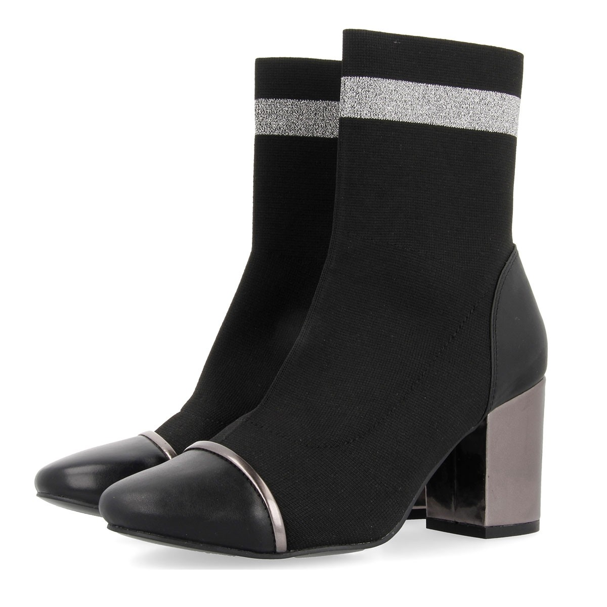 46423 Black-Silver BOOTS 4