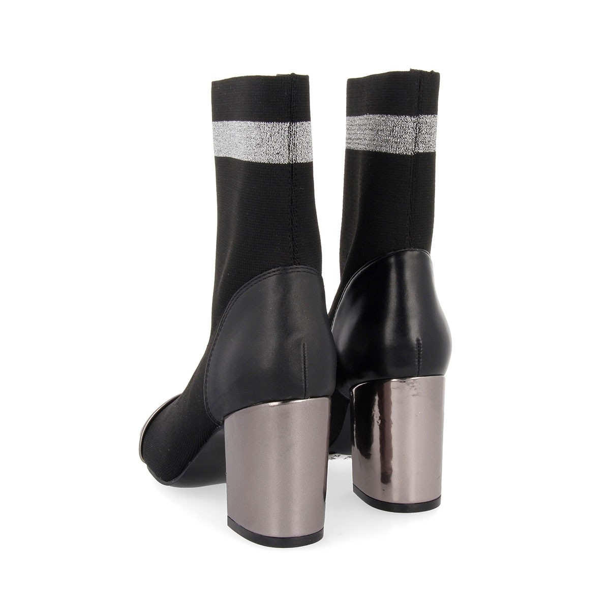 46423 Black-Silver BOOTS 5