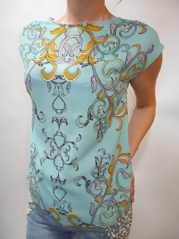5AWN5T3C6 BLOUSE TURQUOISE 1