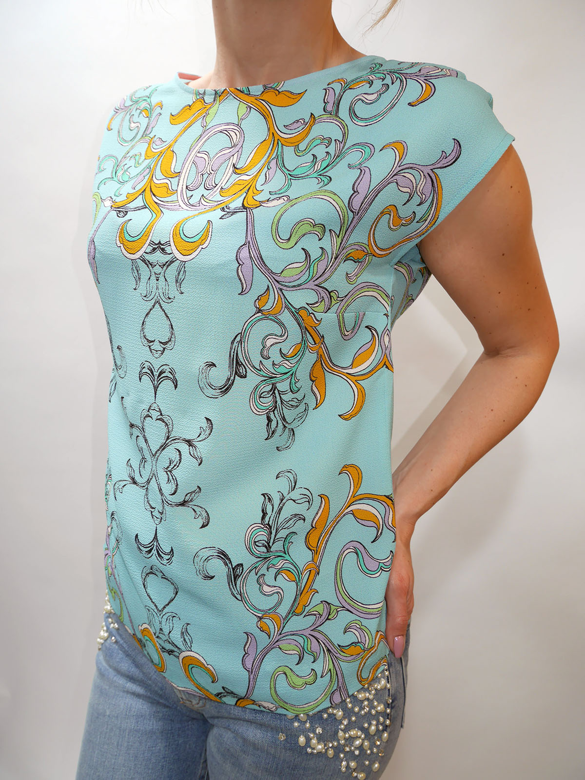5AWN5T3C6 BLOUSE TURQUOISE 2