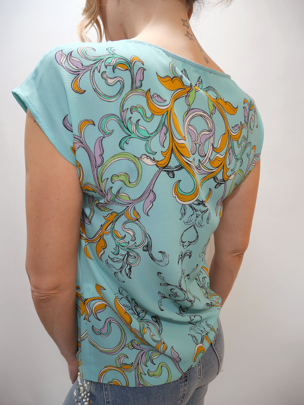 5AWN5T3C6 BLOUSE TURQUOISE 4