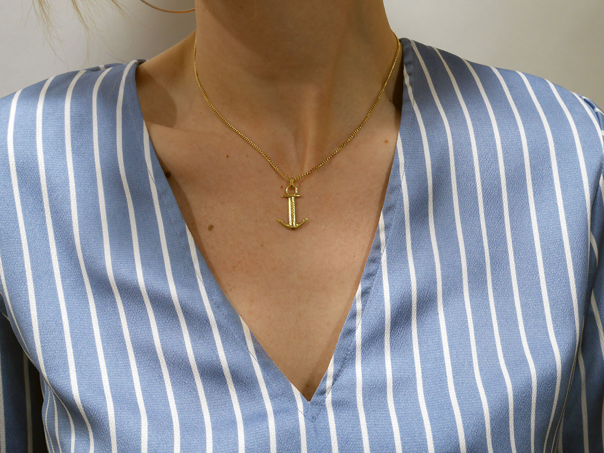 SAILBRACE NECKLACE ANCHOR GOLD