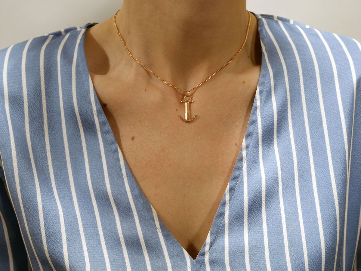SAILBRACE NECKLACE ANCHOR ROSE GOLD