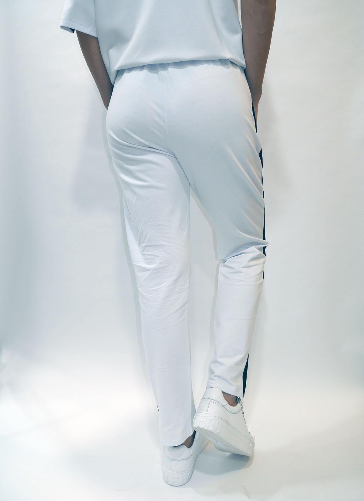 T19004 F0766 PANTS White-nero 3
