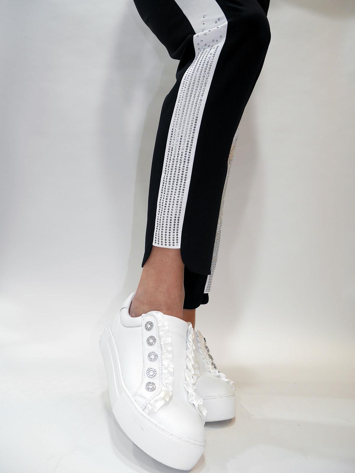 T19016 T8423 PANTS Nero-white 2