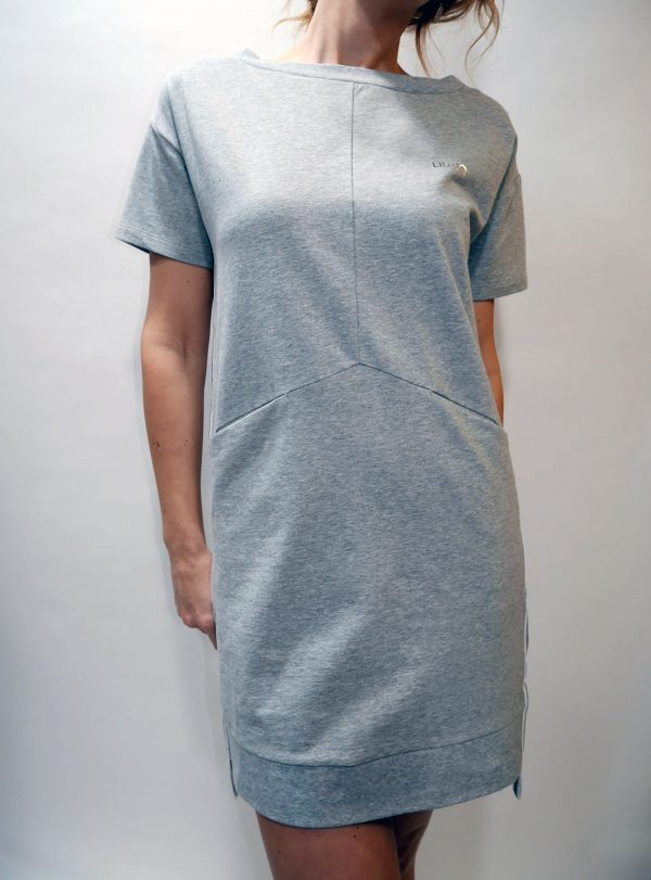 T19048 F0766 DRESS Grigio ch.melange 1