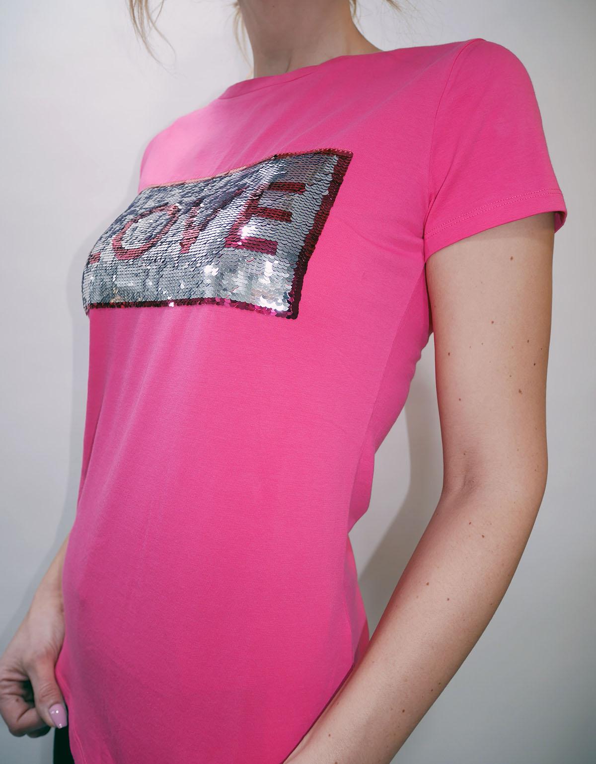 T19106 J5003 T-SHIRT Strong pink 2