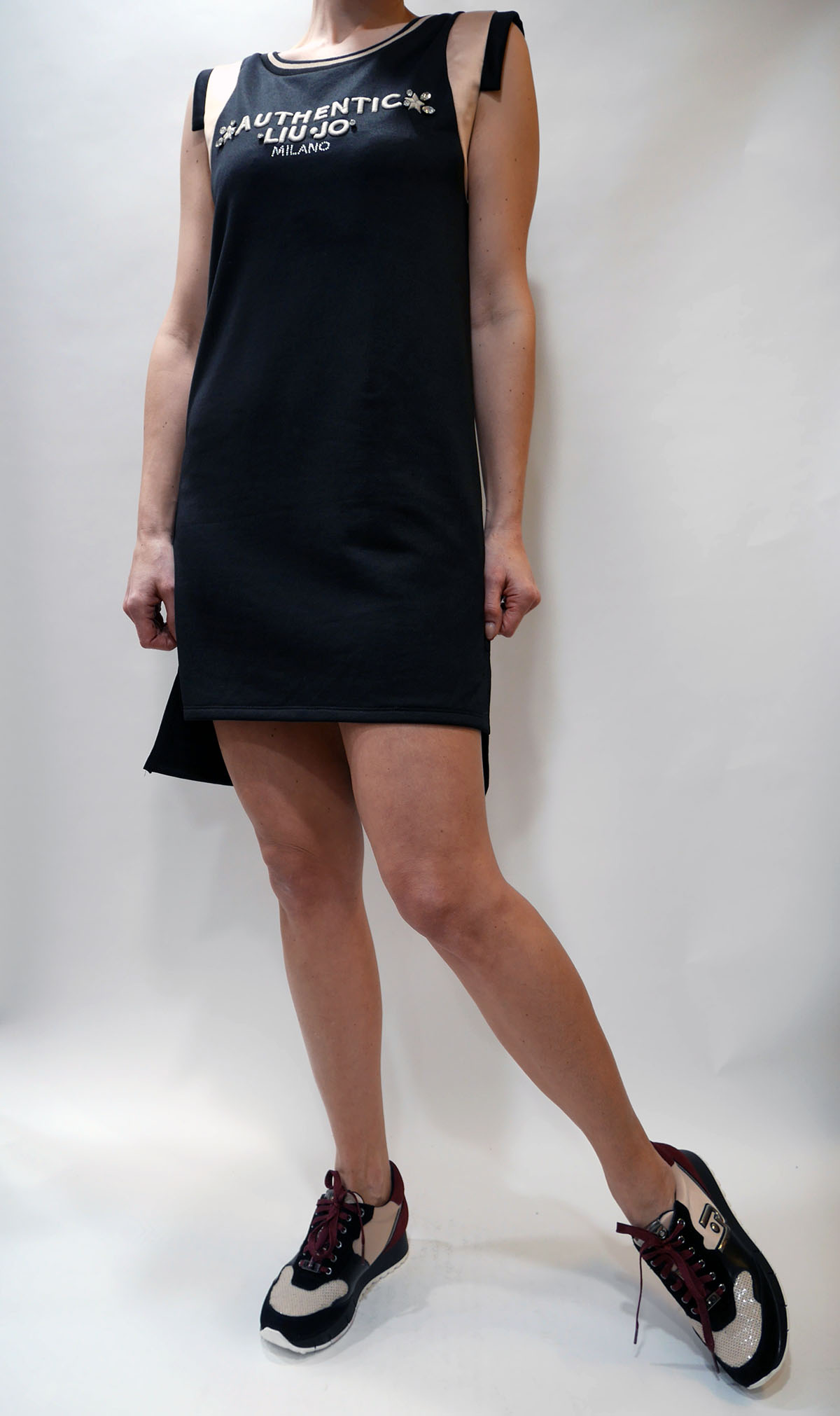 T19121 F0770 DRESS Nero-nude 3