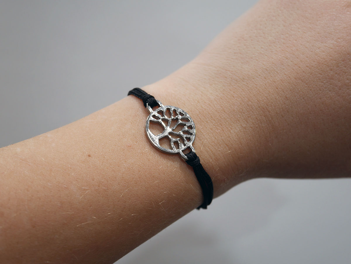 UKIYYO TREE OF LIFE SILVER ONYX BLACK 1