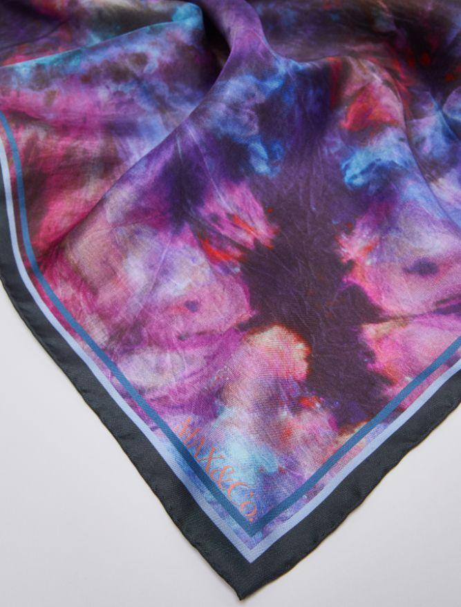 ADDA Stole-Square scarf purple 1