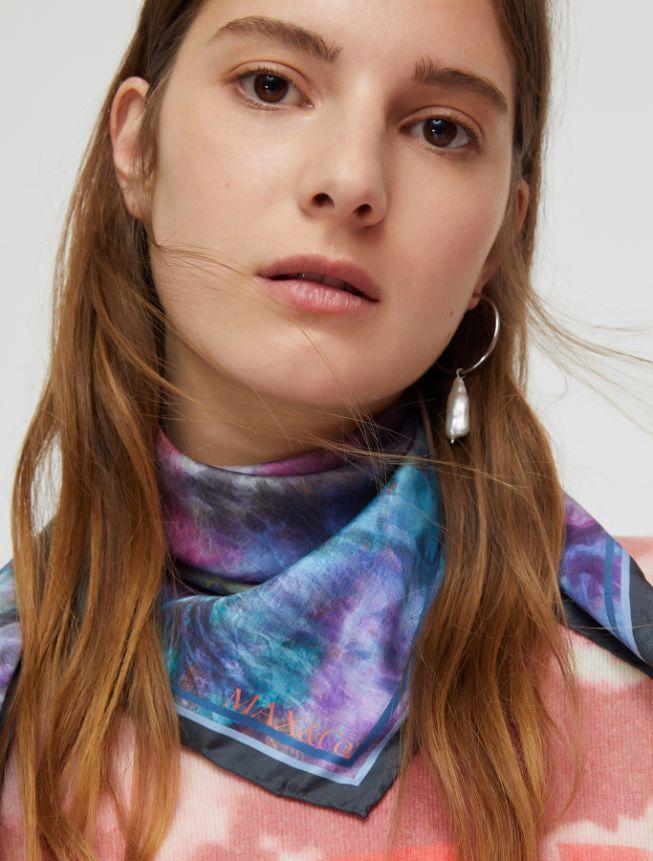 ADDA Stole-Square scarf purple 3