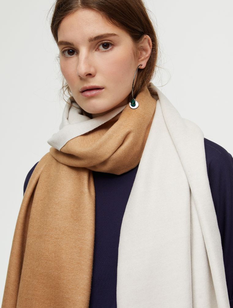ADELAIDE Stole-Square scarf ivory 1