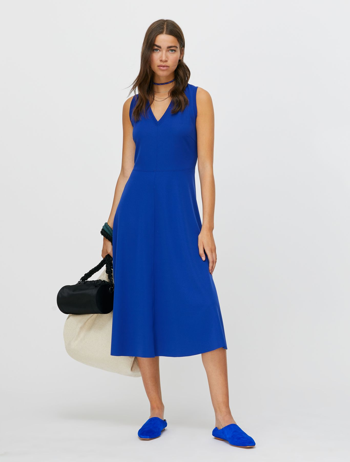 CULTURA Jerseydress china blue 1