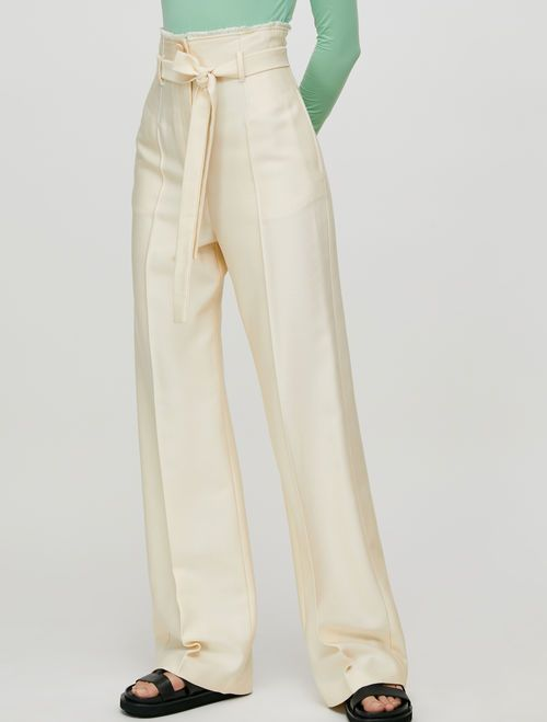 PAZIENTE Long trouser ivory 1