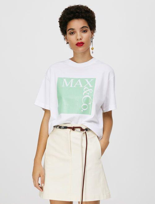 TEE T-shirt green pattern 1