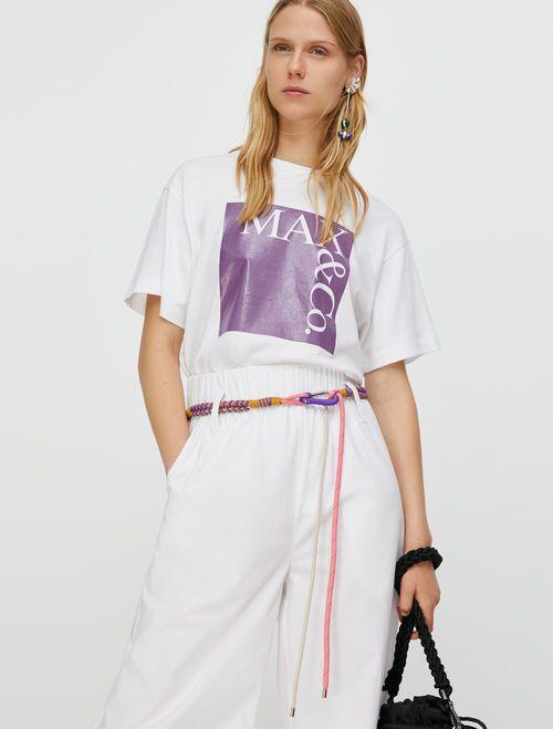 TEE T-shirt purple pattern 3