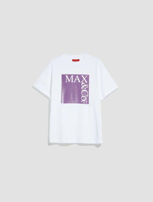 TEE T-shirt purple pattern 5
