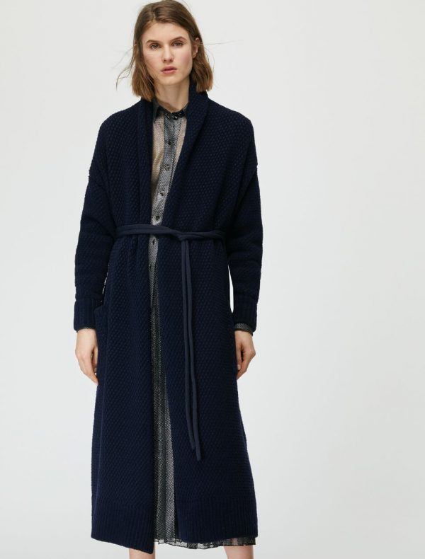 DAL Knitted coat-jacket midnight blue 1