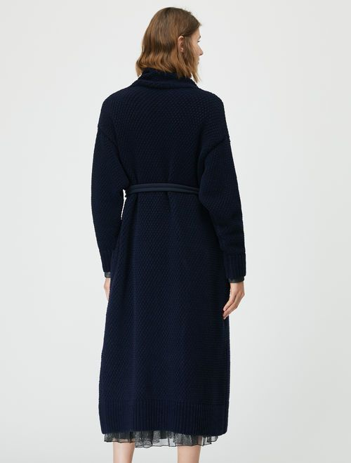 DAL Knitted coat-jacket midnight blue 2