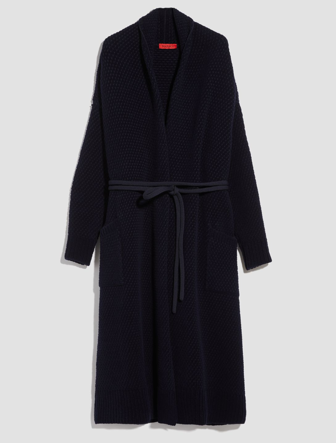 DAL Knitted coat-jacket midnight blue 5
