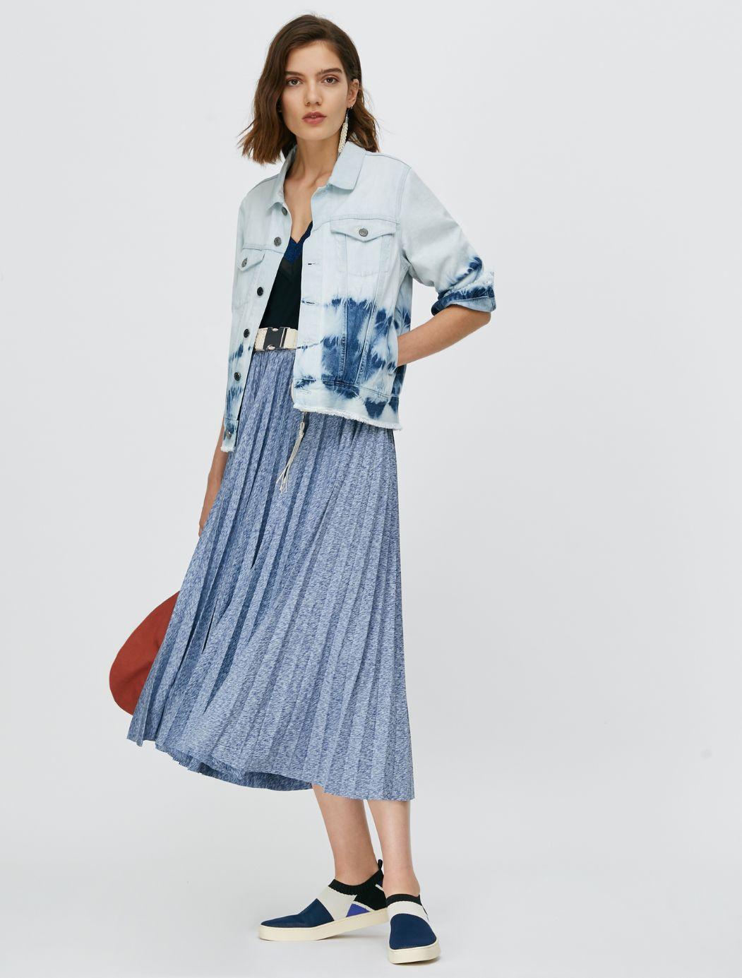 DAMIANO Jersey Skirt china blue 4