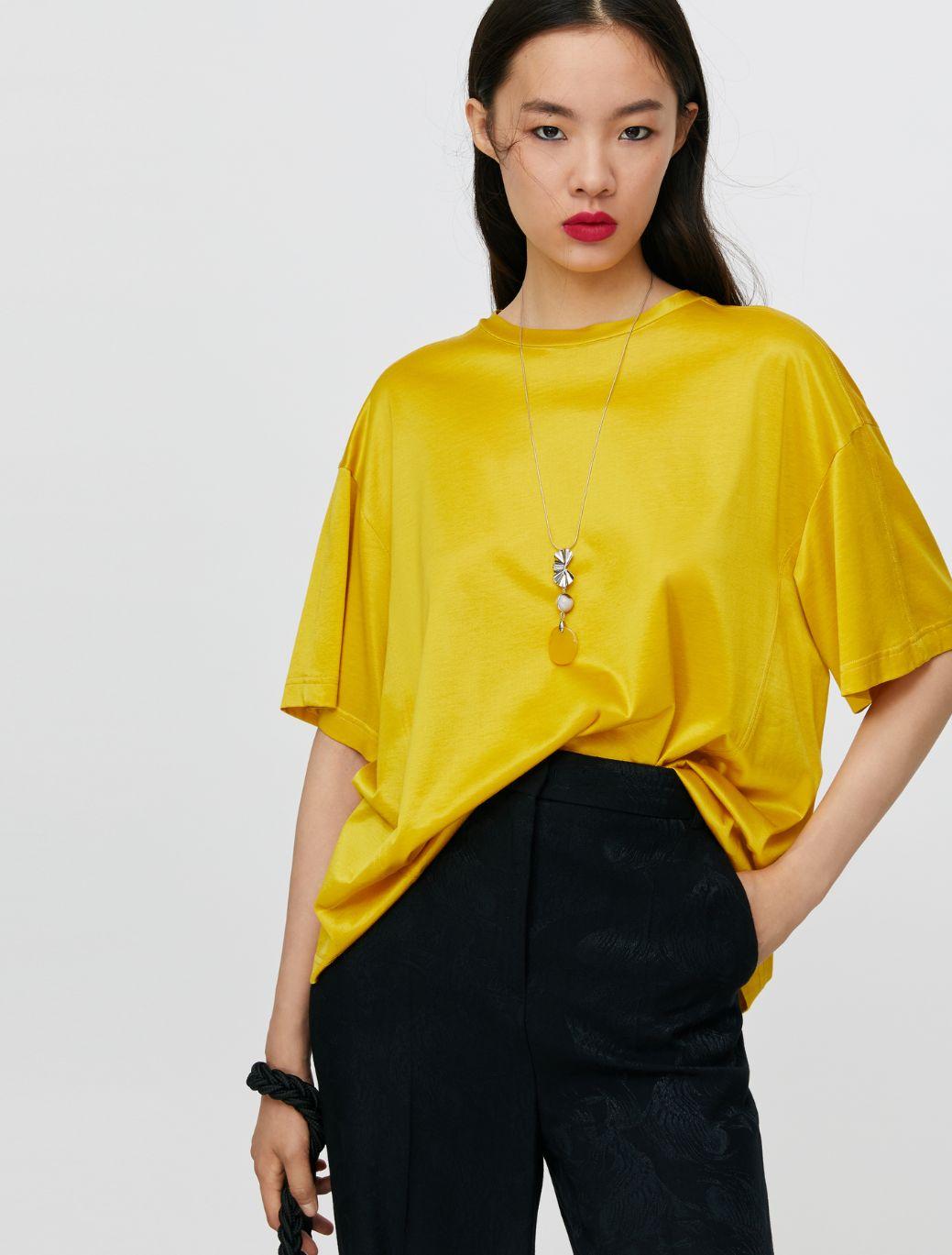 DARIA T-shirt mustard 1