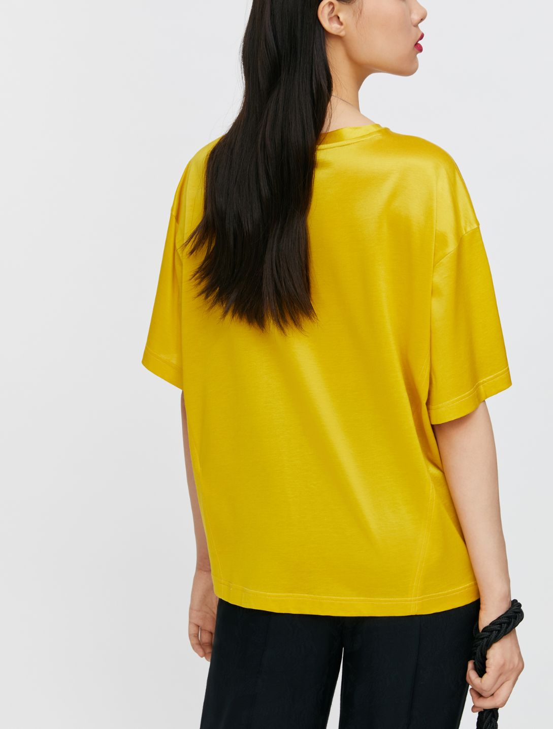 DARIA T-shirt mustard 2