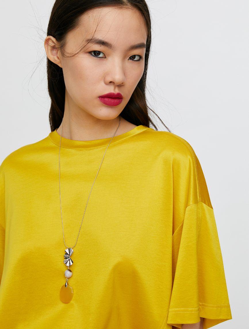 DARIA T-shirt mustard 3