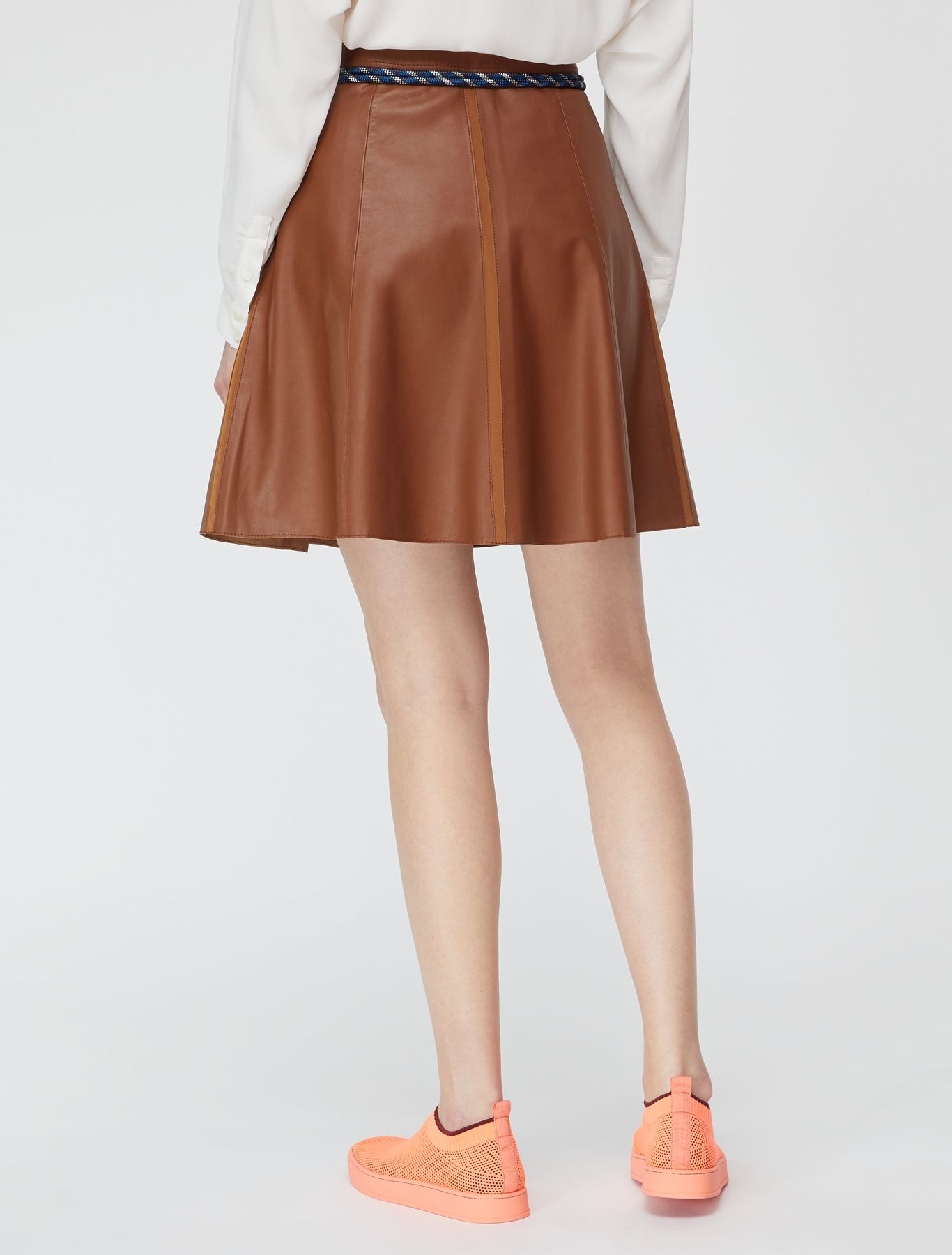 DELEGATO Leather Skirt brown 2