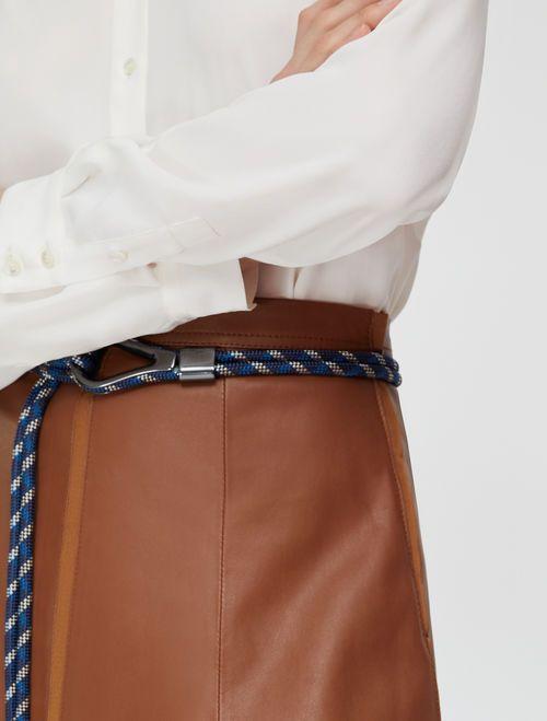 DELEGATO Leather Skirt brown 3