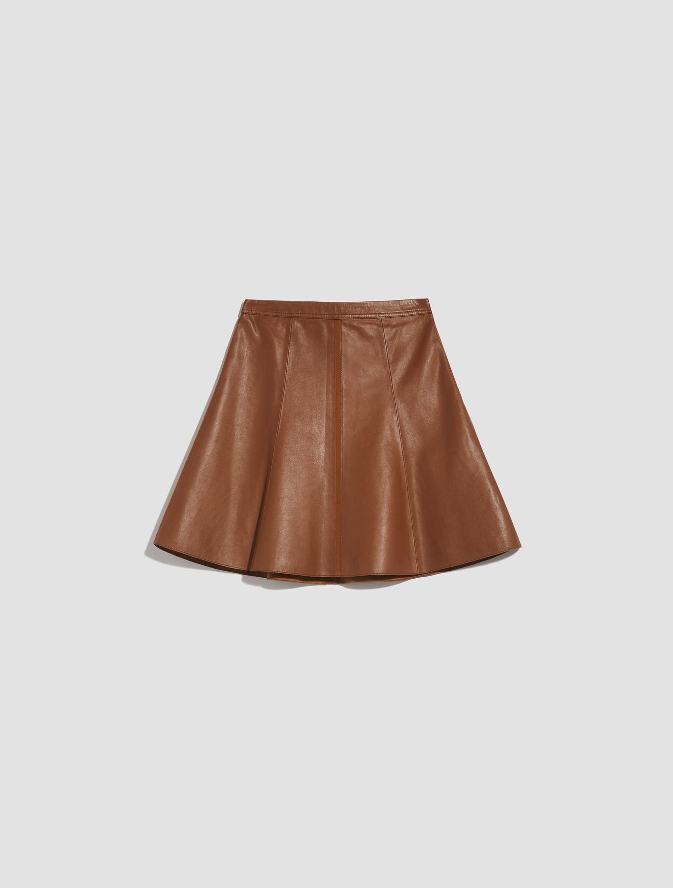 DELEGATO Leather Skirt brown 5