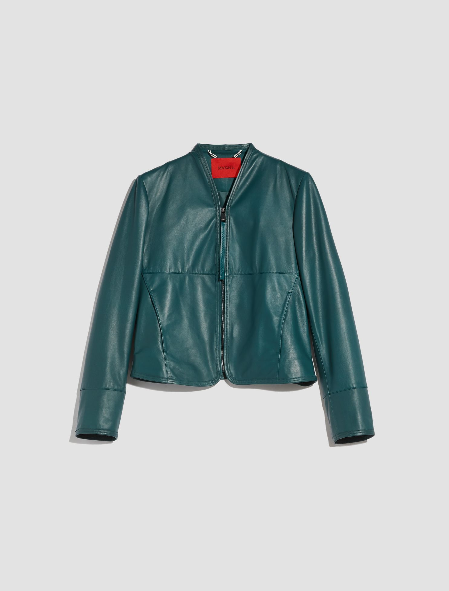DEPONETE Leather jacket emerald green 5