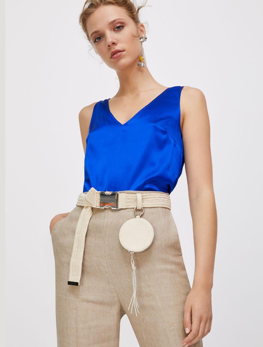 DISCRETO Top-Woven waistcoat cornflower 1