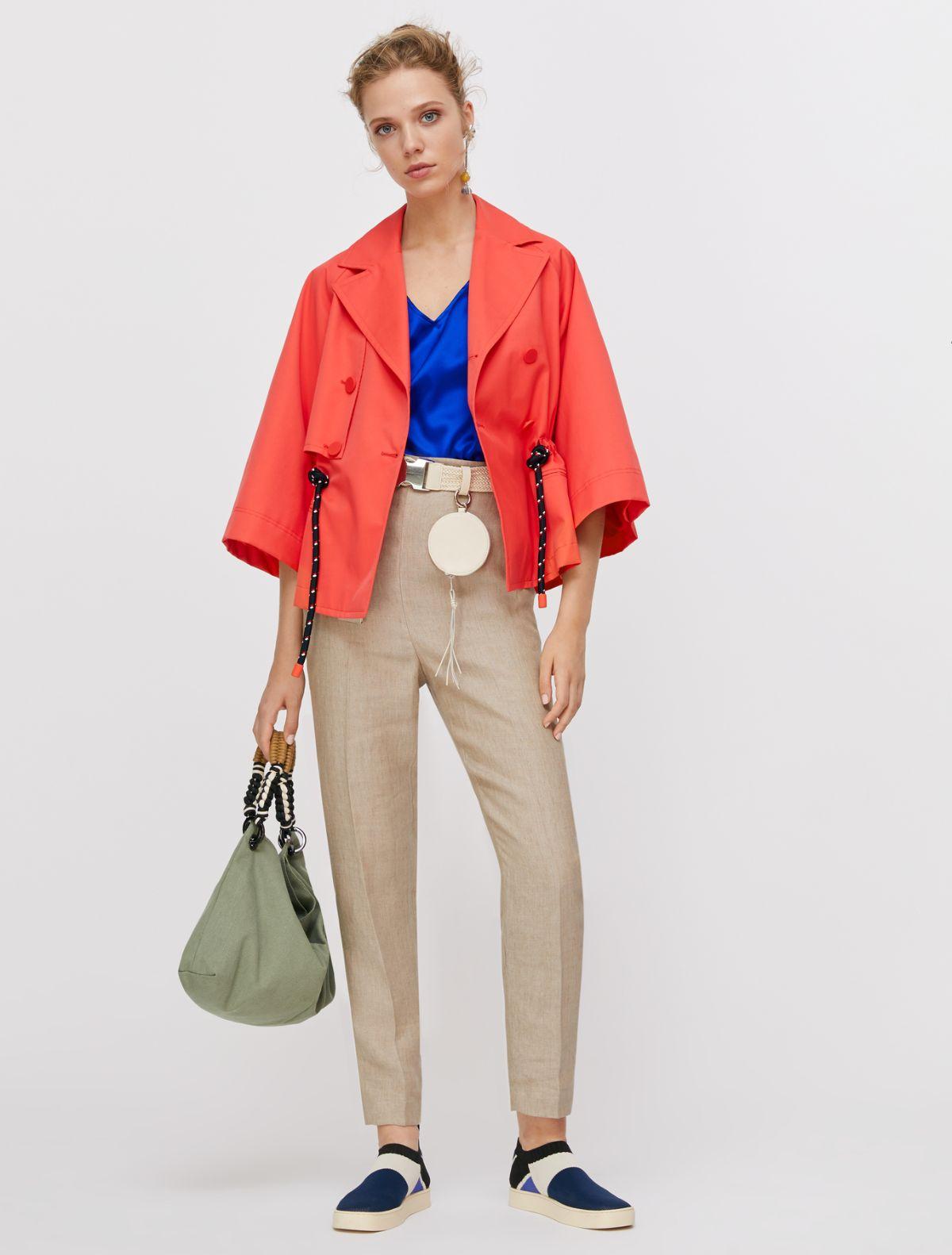 DISCRETO Top-Woven waistcoat cornflower 4
