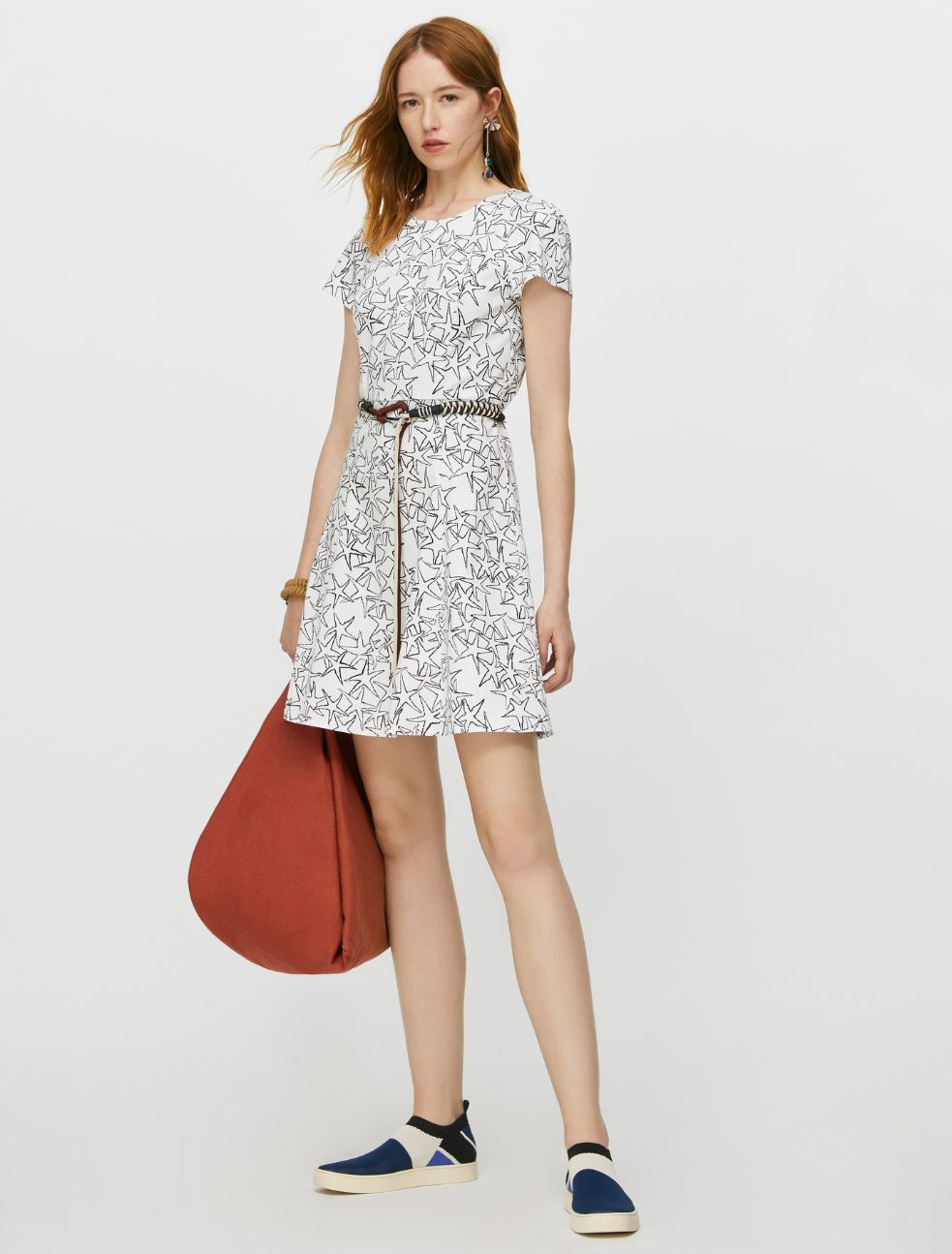 DISPARI Dress white pattern 4