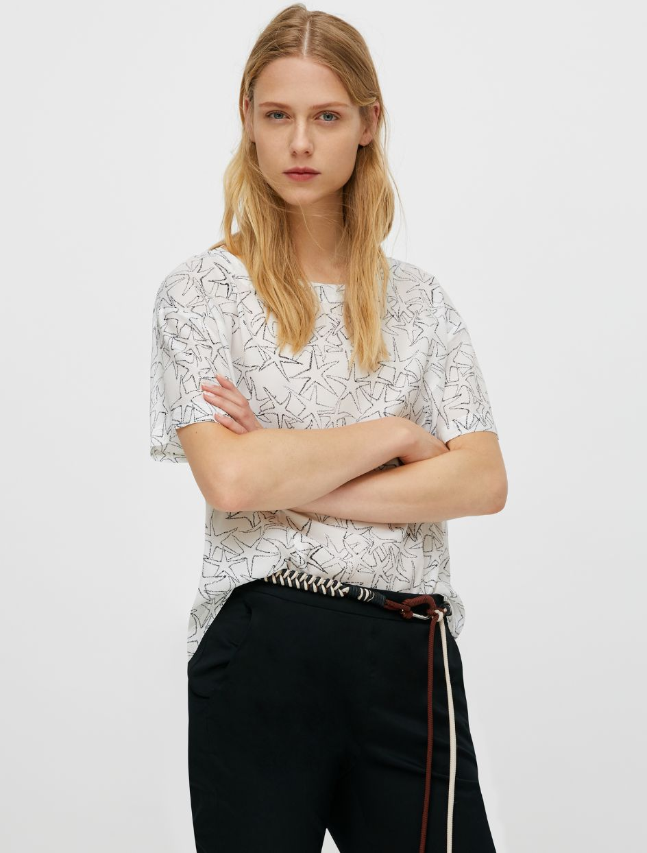 DISPENSA Shirt white pattern 1