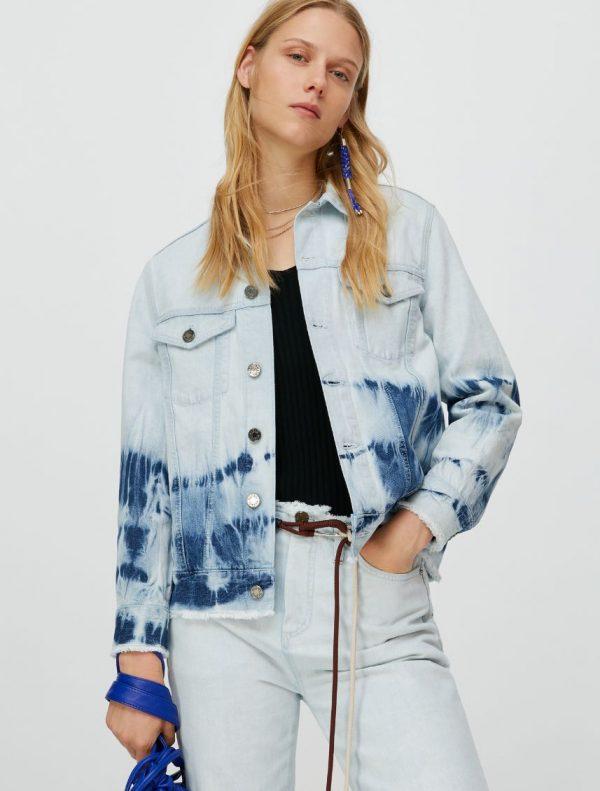 DONNOLA Jacket light blue pattern 1