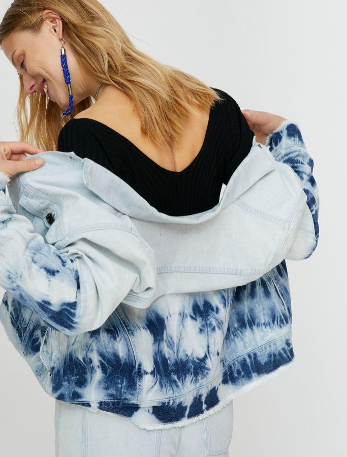 DONNOLA Jacket light blue pattern 2