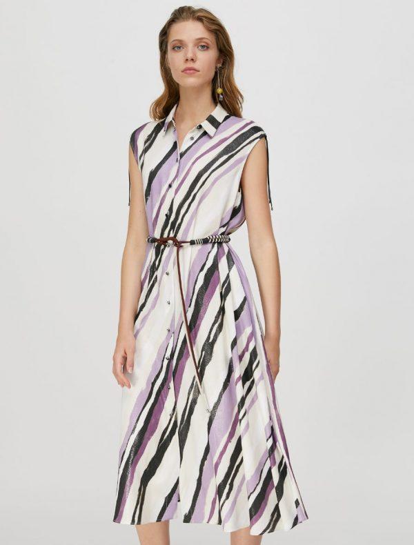 PATTINI Dress ivory pattern 1